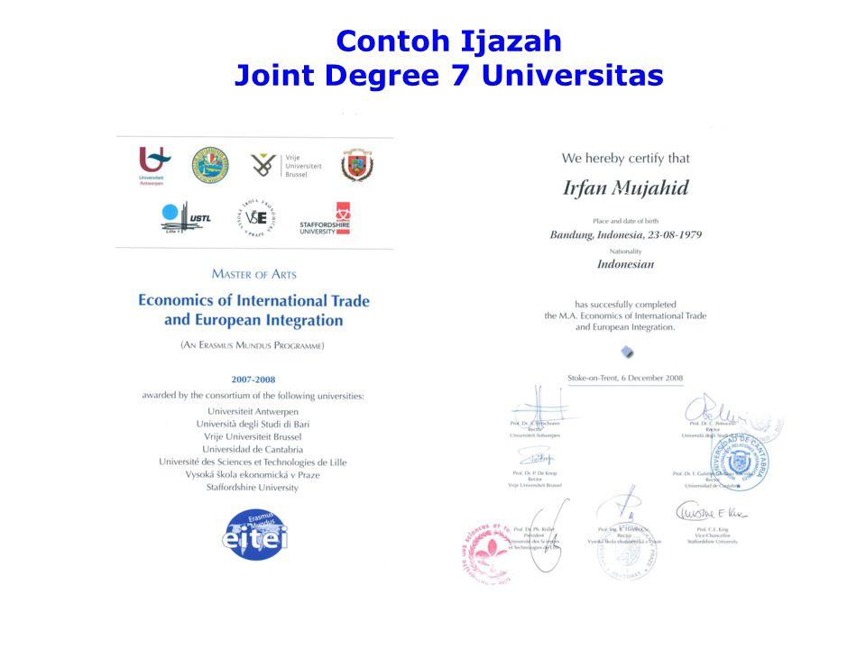 Contoh Ijazah Joint Degree 3 Universitas ERASMUS MUNDUS