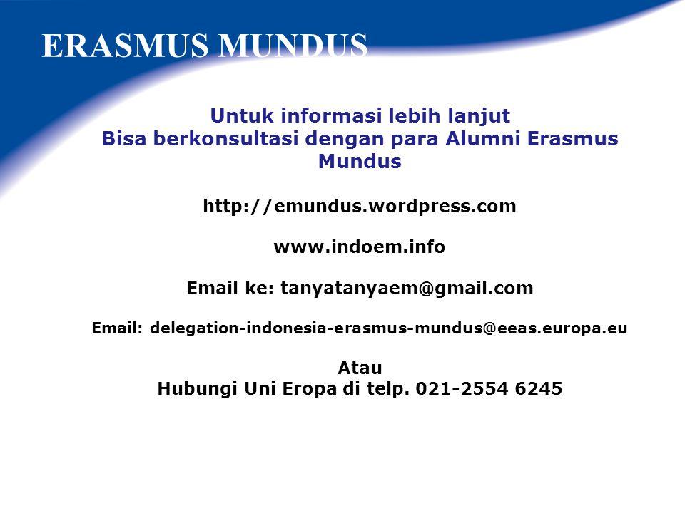 ERASMUS MUNDUS Erasmus Mundus Alumni Indonesia