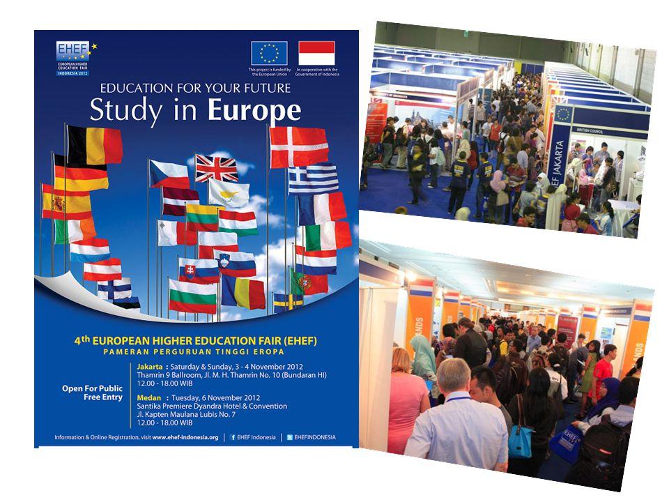 ERASMUS MUNDUS European Higher Education Fair 2012 Jakarta, 3-4 November 2012 Medan, 6 November 2012