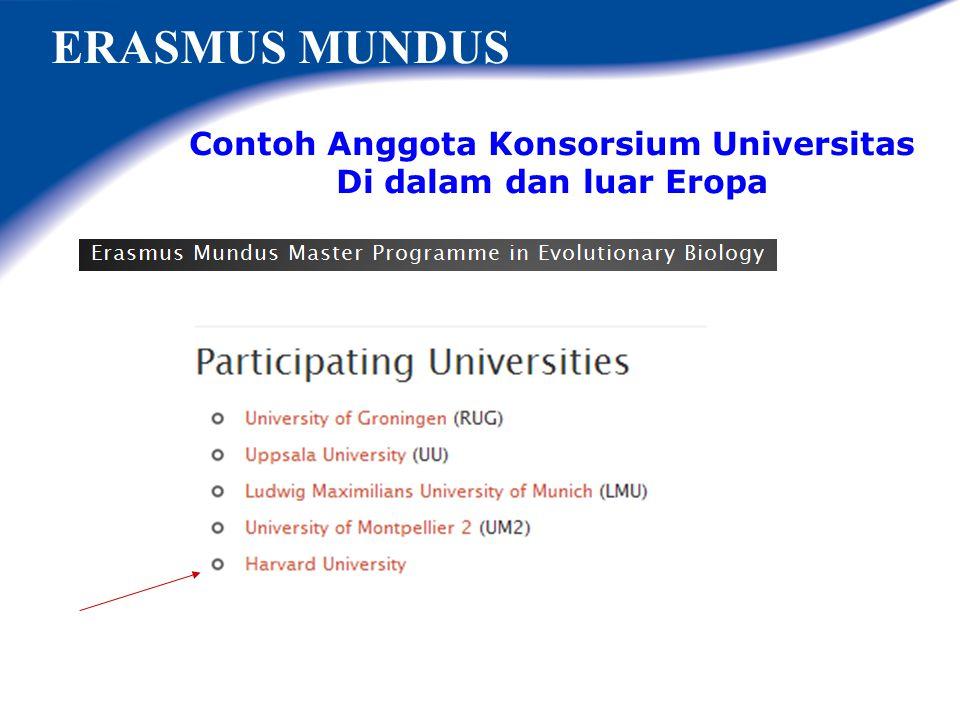 EMMC - Erasmus Mundus Master Courses ? Program Pasca Sarjana Erasmus Mundus (S-2) Penyelenggara: Konsorsium Universitas-universitas di Eropa,minimum 3