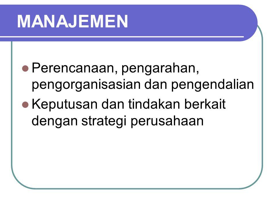 Dimensi–Dimensi Keputusan Strategik 1.Membutuhkan keputusan manajemen puncak 2.
