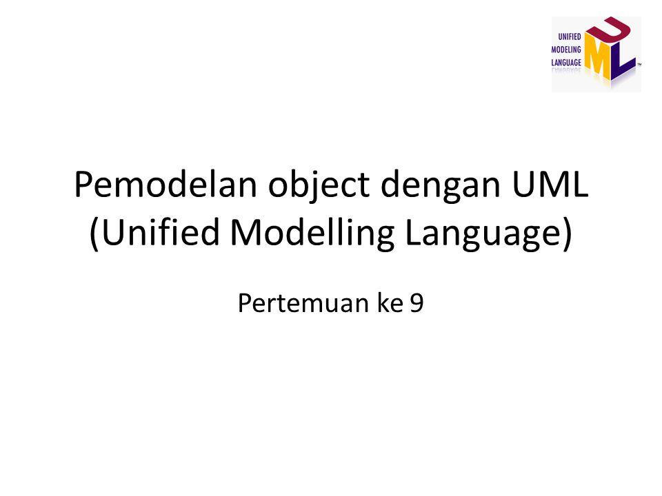 Pemodelan object dengan UML (Unified Modelling Language) Pertemuan ke 9