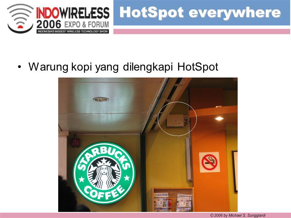 HotSpot everywhere Warung kopi yang dilengkapi HotSpot