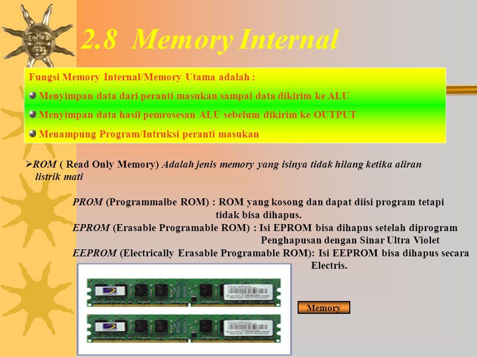 2.7.7 Multiprosesor0 Prosesor Vektor : Sistem Multiprosesor dengan masing – masing prosesor bekerja secara serentak dalam menangani proses perhitungan