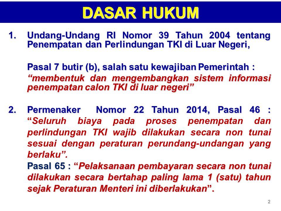 BP3TKI/LP3TKI/P4TKIBP3TKI/LP3TKI/P4TKI BLKLN 1.MENERIMA STRUK BUKTI TRANSAKSI 2.LOAD ID TKI/ID BILLING 3.REG CTKI /MASUK BLKLN 4.ABSEN SIDIK JARI MASA PELATIHAN 1.MENERIMA STRUK BUKTI TRANSAKSI 2.LOAD ID TKI/ID BILLING 3.REG CTKI /MASUK BLKLN 4.ABSEN SIDIK JARI MASA PELATIHAN VERIFIKASI DAN PAP SISKOTKLN CETAK KTKLN PPTKIS 5 5 Struk Bukti Transaksi PEMBAYARAN NON TUNAI VALID YA TIDAK ENTRI NO SERTI BLKLN 3 3 ALUR PEMBAYARAN NON TUNAI PELATIHAN DI BLKLN 6 6 Pengajuan Pembayaran Pengajuan Pembayaran PPTKIS 1 1 ID BILLING/ KODE BAYAR ID BILLING/ KODE BAYAR BANK CHANEL PEMBAYARAN : 1.INTERNET BANKING 2.ATM 3.TELLER KANTOR CABANG CHANEL PEMBAYARAN : 1.INTERNET BANKING 2.ATM 3.TELLER KANTOR CABANG PENGAJUAN PAP & KTKLN 2 2 YA 1 1 4 4