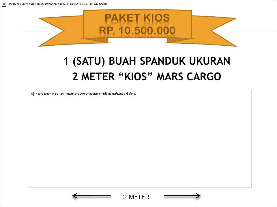 """1 (SATU) BUAH SPANDUK UKURAN 2 METER """"KIOS"""" MARS CARGO 2 METER"""