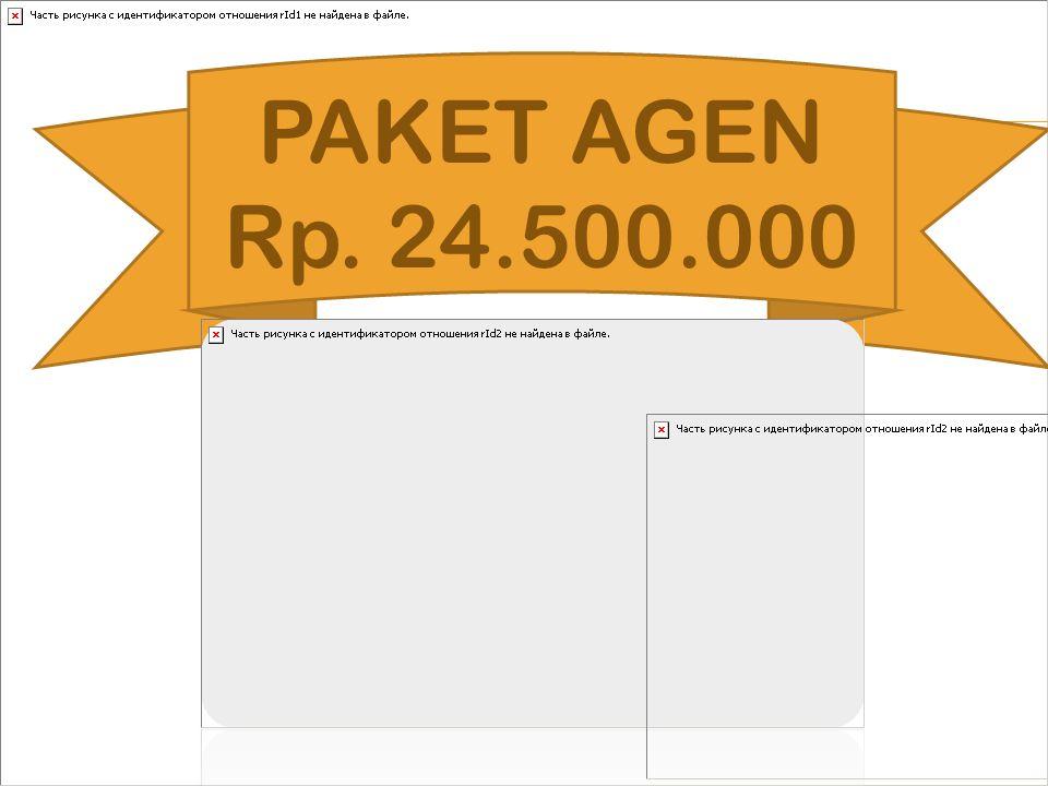 PAKET AGEN Rp. 24.500.000