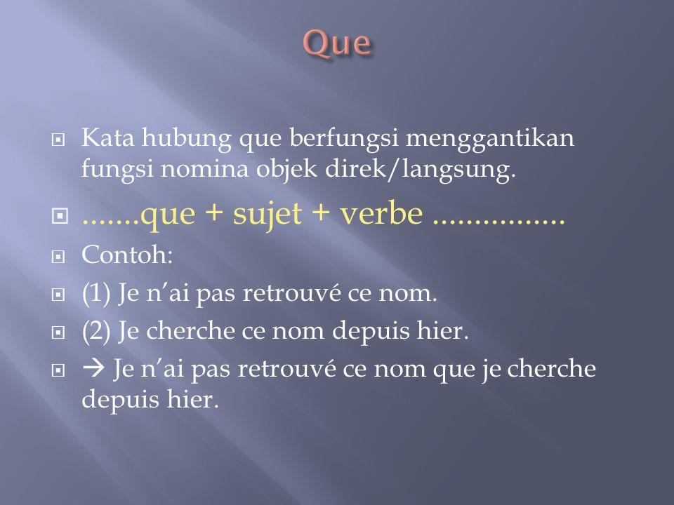  Kata hubung où memiliki dua fungsi; menggantikan keterangan tempat dan keterangan waktu.