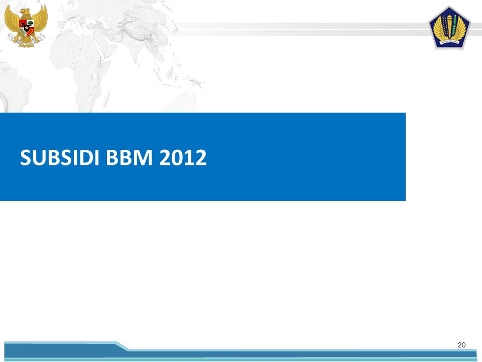 SUBSIDI BBM 2012 20