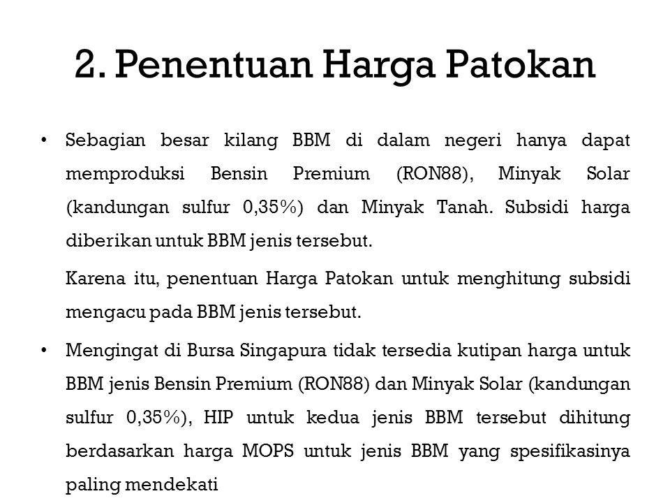 Sebagian besar kilang BBM di dalam negeri hanya dapat memproduksi Bensin Premium (RON88), Minyak Solar (kandungan sulfur 0,35%) dan Minyak Tanah.