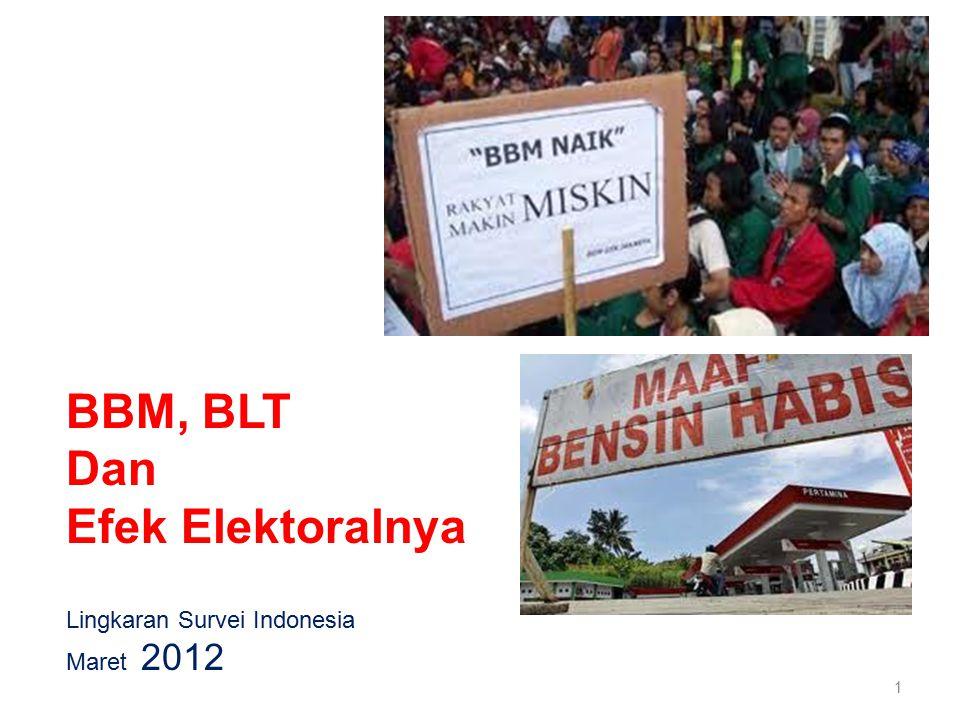Lingkaran Survei Indonesia Maret 2012 1 BBM, BLT Dan Efek Elektoralnya
