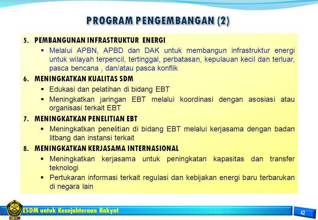 ESDM untuk Kesejahteraan Rakyat 5. PEMBANGUNAN INFRASTRUKTUR ENERGI  Melalui APBN, APBD dan DAK untuk membangun infrastruktur energi untuk wilayah te