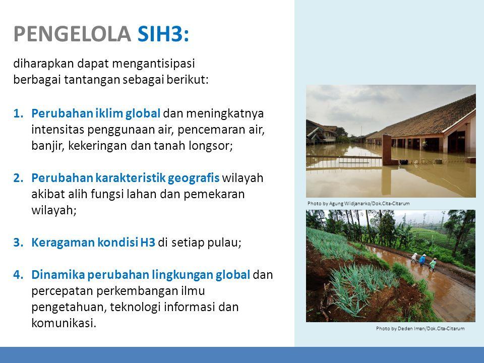 1.Perubahan iklim global dan meningkatnya intensitas penggunaan air, pencemaran air, banjir, kekeringan dan tanah longsor; 2.Perubahan karakteristik g