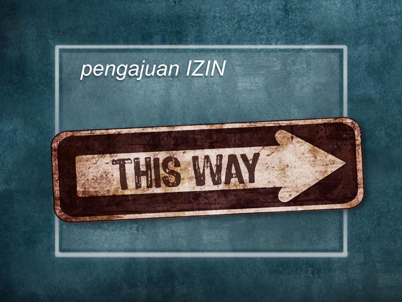 pengajuan IZIN