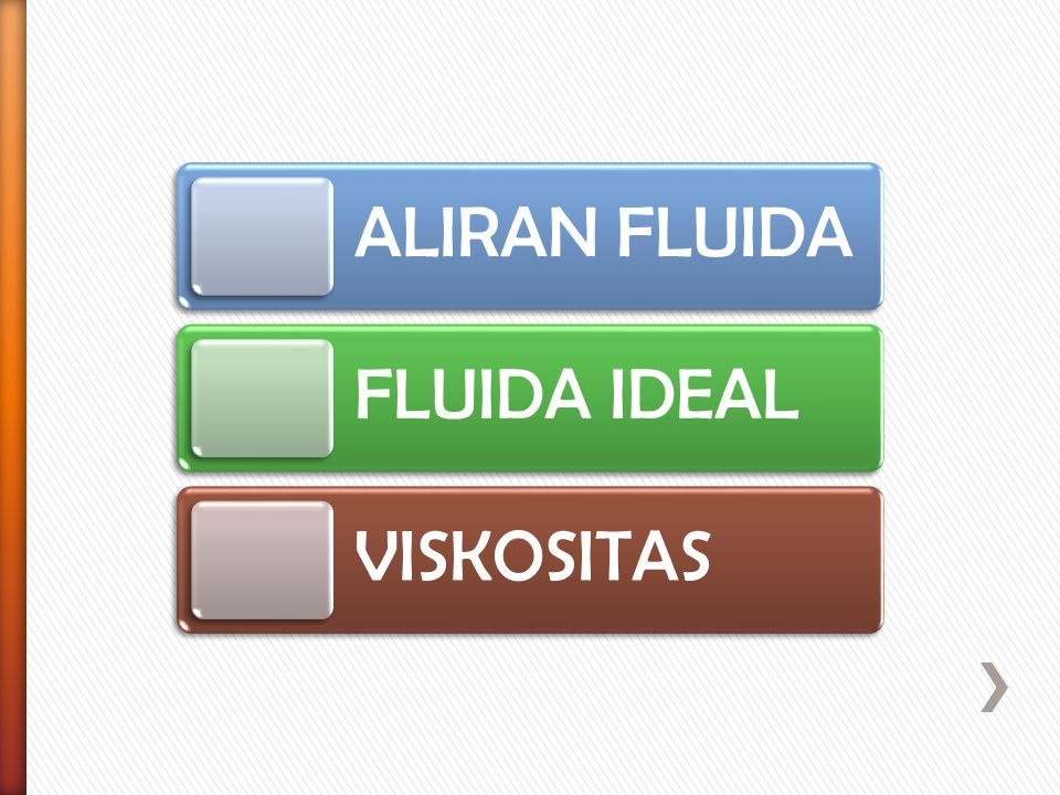 ALIRAN FLUIDAFLUIDA IDEAL VISKOSITAS