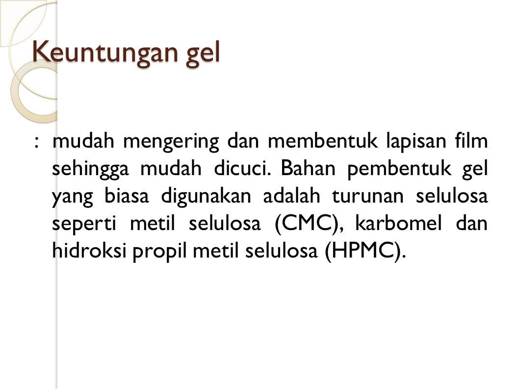 Evaluasi gel 1.Organoleptis 2. Homogenitas 3. pH 4.