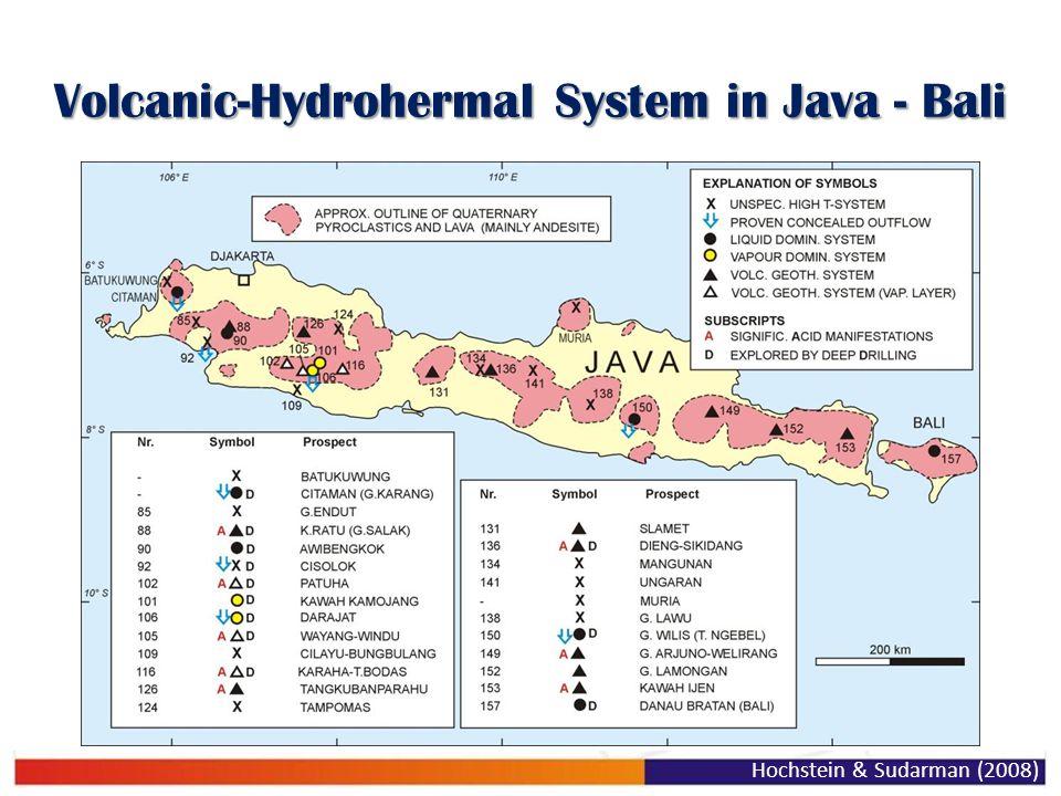 Volcanic-Hydrohermal System in Java - Bali Hochstein & Sudarman (2008)