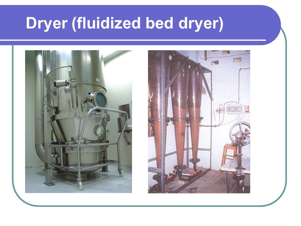 Dryer (fluidized bed dryer)