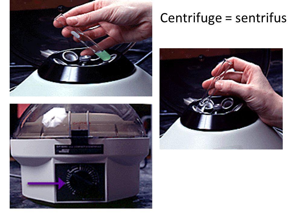 Centrifuge = sentrifus