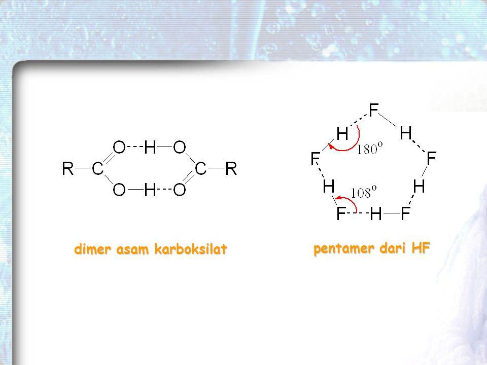 dimer asam karboksilat pentamer dari HF