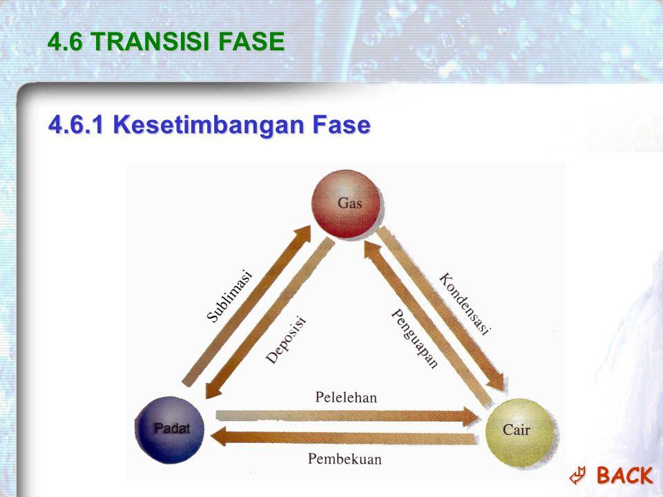 4.6 TRANSISI FASE 4.6.1 Kesetimbangan Fase  BACK  BACK