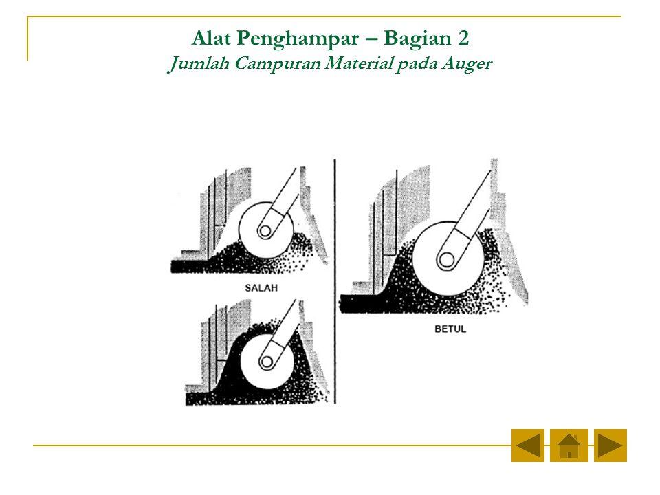 Alat Penghampar – Bagian 2 Jumlah Campuran Material pada Auger