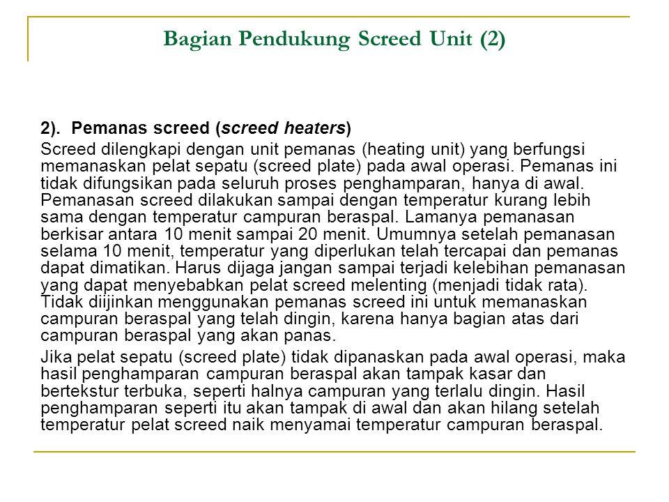 Bagian Pendukung Screed Unit (2) 2).