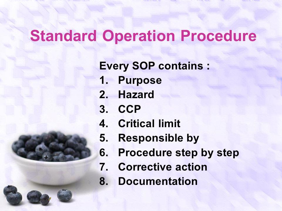 HACCP Plan Matrix