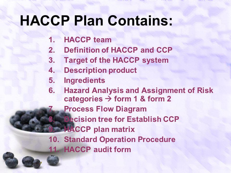 Pemahaman Dasar 7 Prinsip HACCP Buatlah spesifikasi / diskripsi produk a.