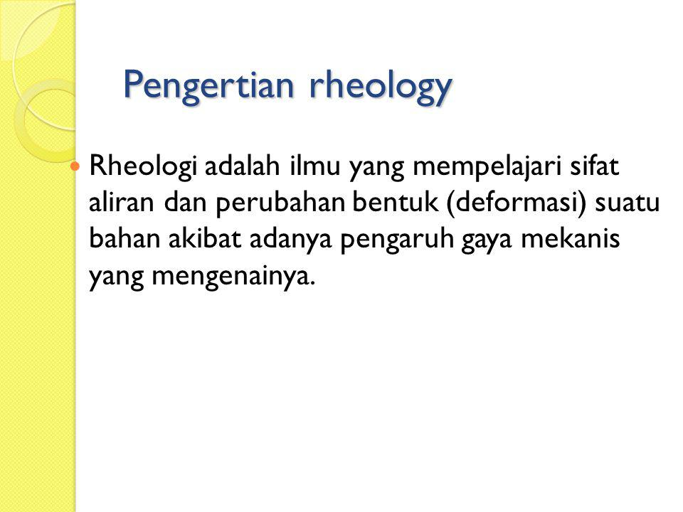 Why we want to study rheology of Foods.