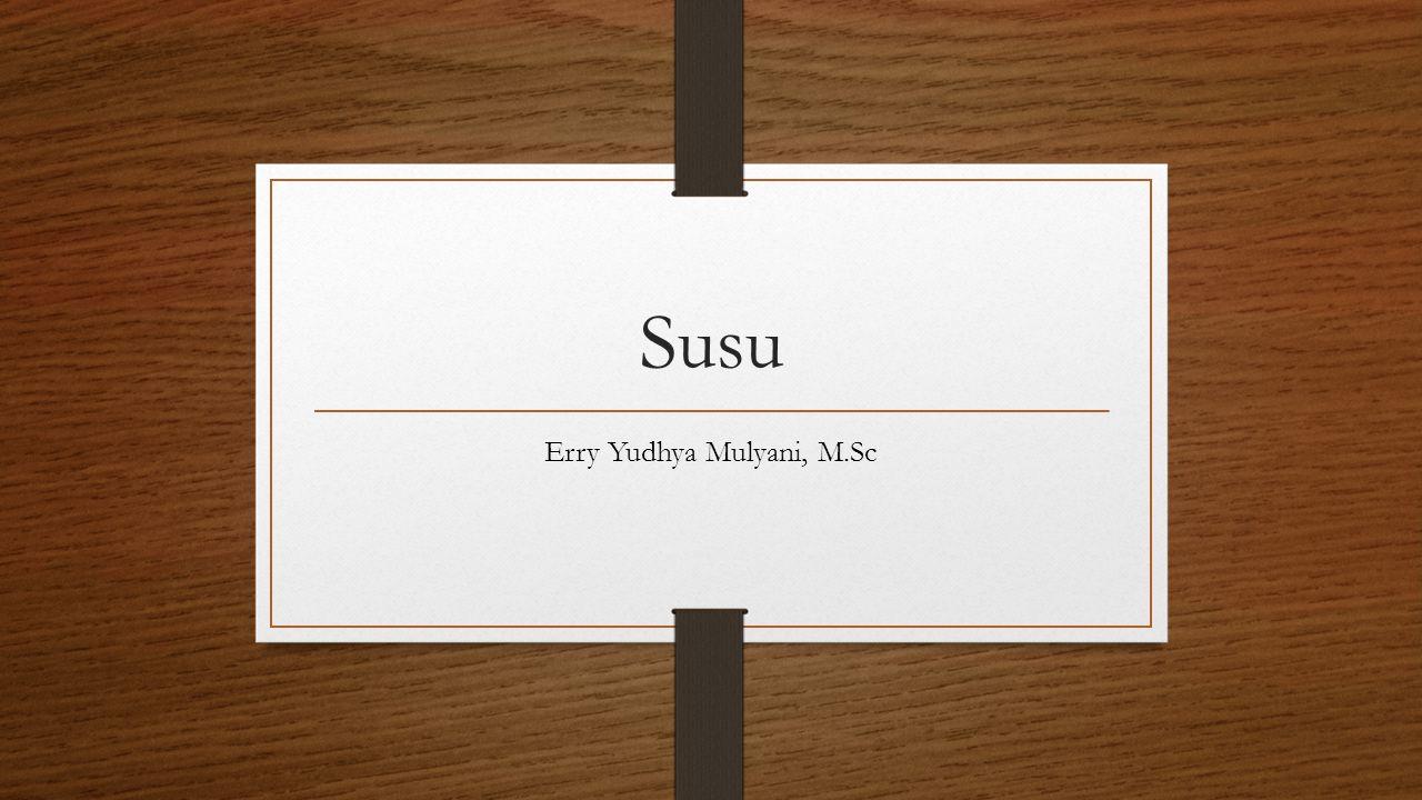 Susu Erry Yudhya Mulyani, M.Sc