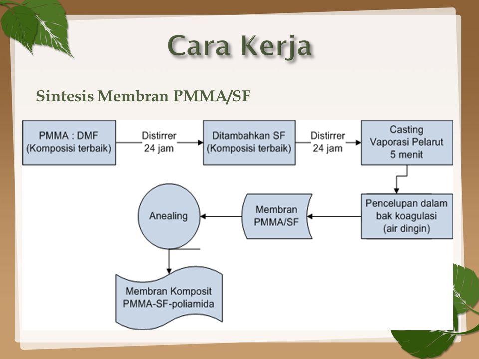 Sintesis Membran PMMA/SF