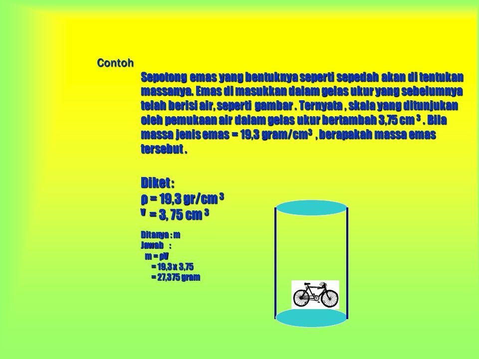 Tekanan ( p ) Misalnya tekanan air Cara mengukur tekanan zat : 1.