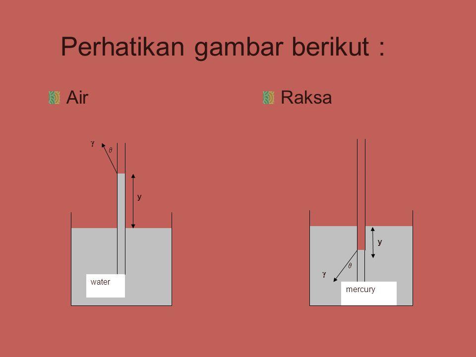 Perhatikan gambar berikut : AirRaksa y   water y   mercury