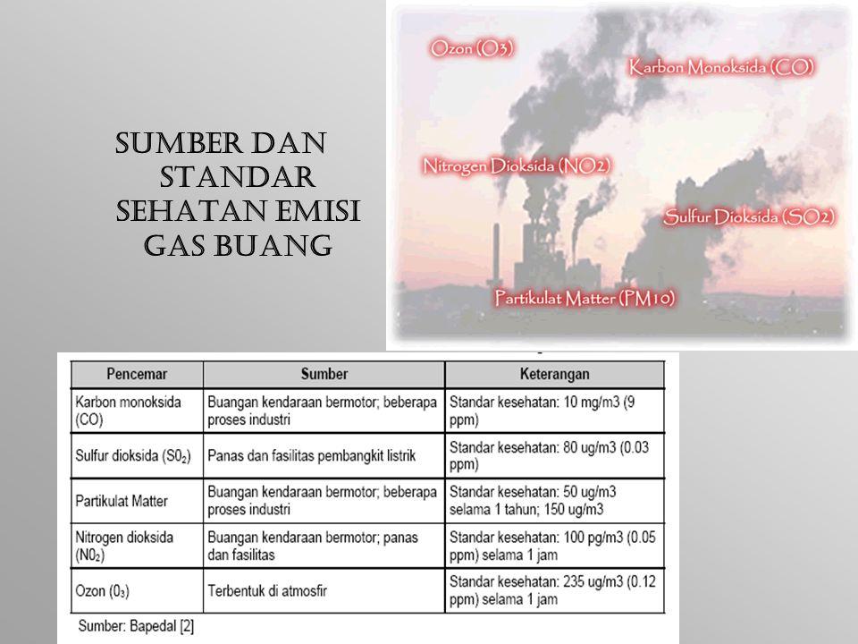 Sumber dan Standar sehatan Emisi Gas Buang