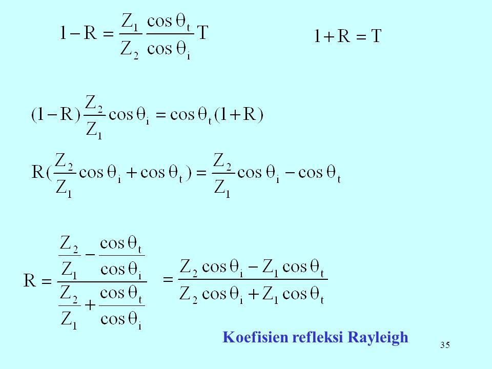 35 Koefisien refleksi Rayleigh