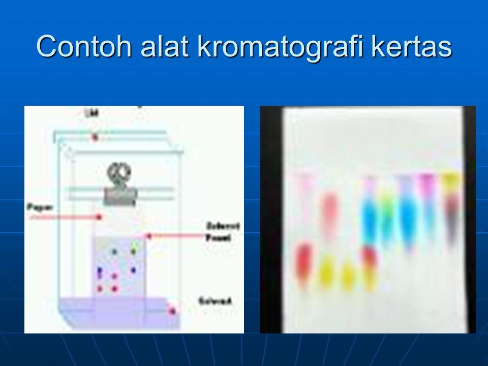 Contoh alat kromatografi kertas