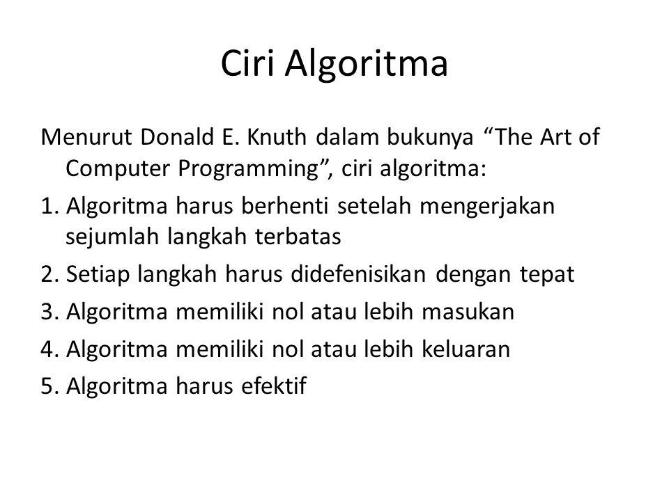 Ciri Algoritma Menurut Donald E.