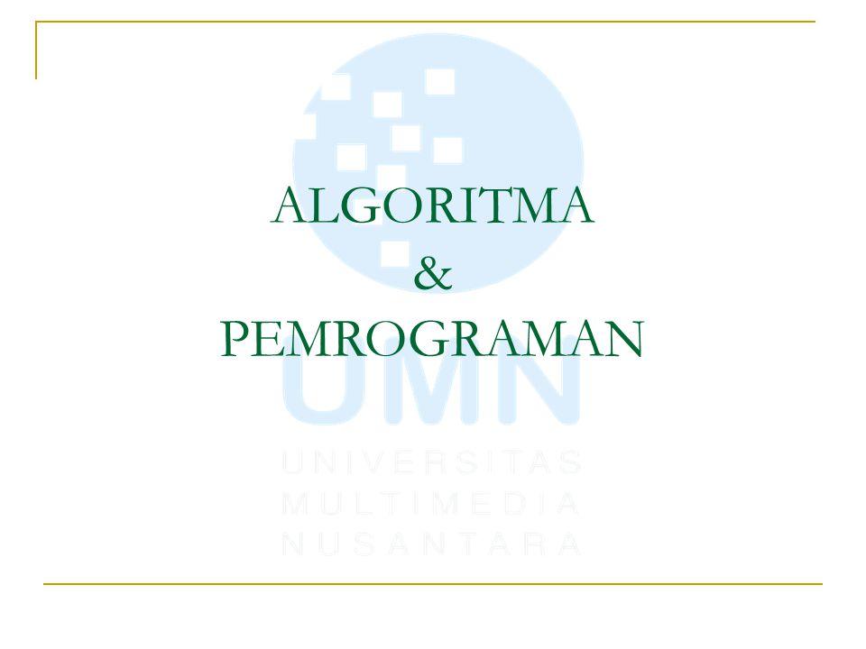 Pembuatan Program /* Program Tukar nilai dibuat oleh : David Solichin Tgl : 17 Agustus 1945 tujuan : untuk menukar 2 buah nilai */ #include int main() { int A,B,C; // siapkan penampung baru, yaitu C // input Nilai dan simpan ke Variable A printf( Masukkan Nilai A : ); scanf( %d ,&A); // input Nilai dan simpan ke Variable B printf( Masukkan Nilai B : ); scanf( %d ,&B); C = A; // isikan nilai A ke C A = B; // isikan nilai B ke A B = C; // isikan nilai C ke B printf( Setelah ditukar A = %d, B = %d\n ,A,B); system( PAUSE ); return 0; }