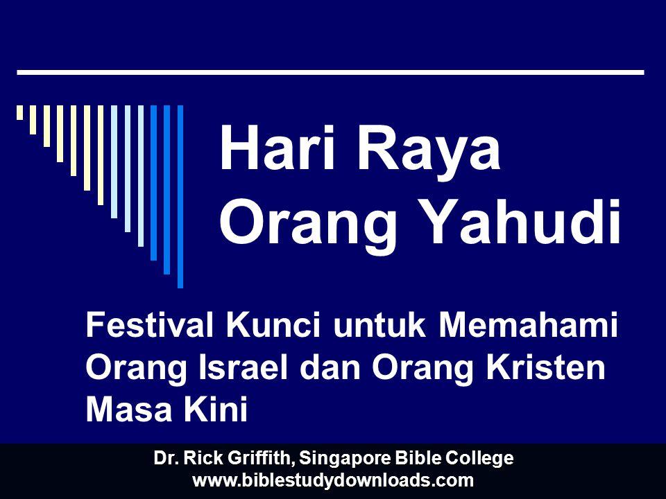 Hari Raya Orang Yahudi Festival Kunci untuk Memahami Orang Israel dan Orang Kristen Masa Kini Dr.