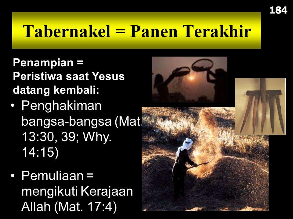 Tabernakel = Panen Terakhir Penghakiman bangsa-bangsa (Mat.