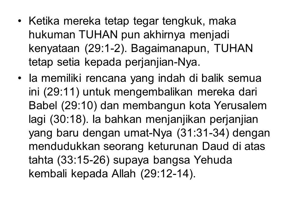 Secara khusus tujuan penulisan kitab dapat ditelusuri dari kisah pemanggilan Yeremia.
