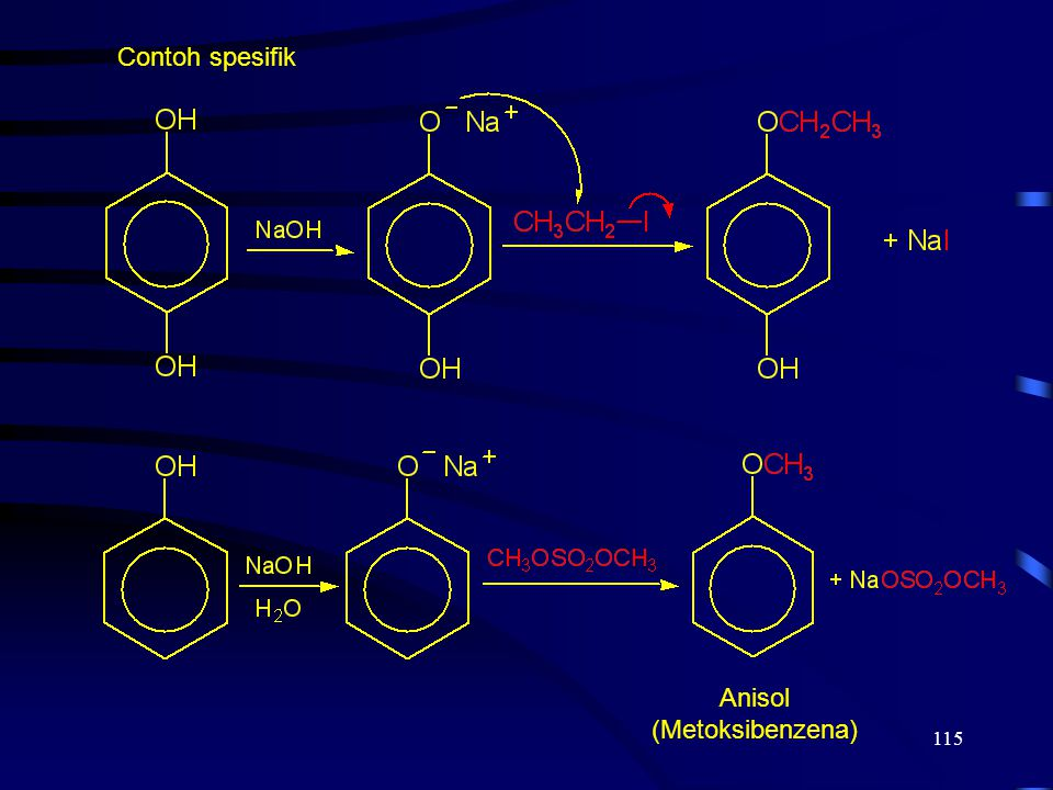 115 Contoh spesifik Anisol (Metoksibenzena)
