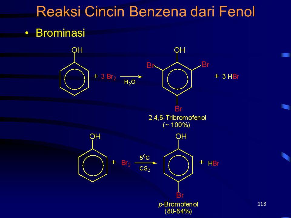 118 Reaksi Cincin Benzena dari Fenol Brominasi