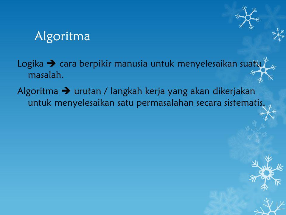 Algoritma – Syllogism(logical appeal) http://en.wikipedia.org/wiki/Syllogism