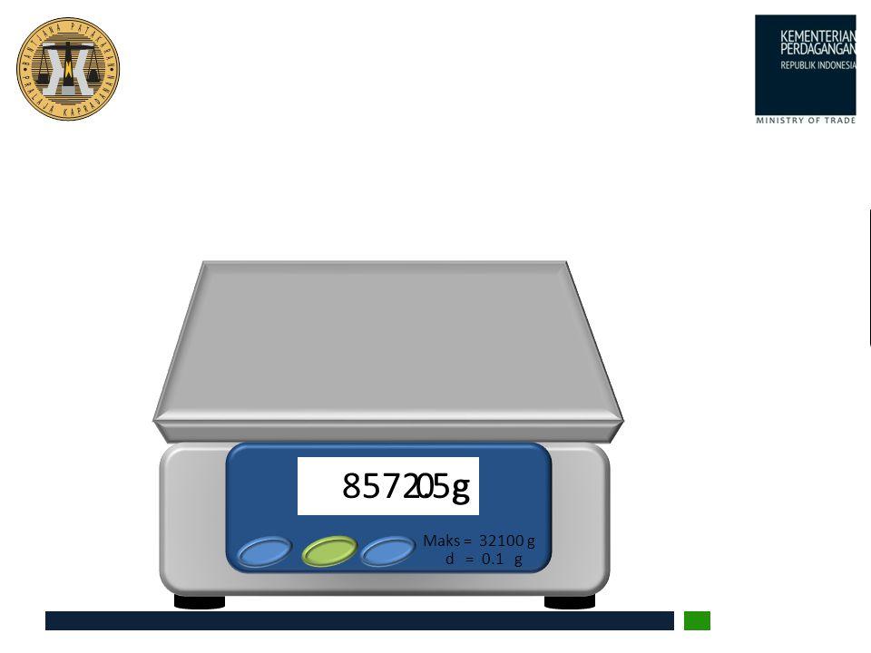 0 g 8572.5g d = 0.1 g Maks = 32100 g