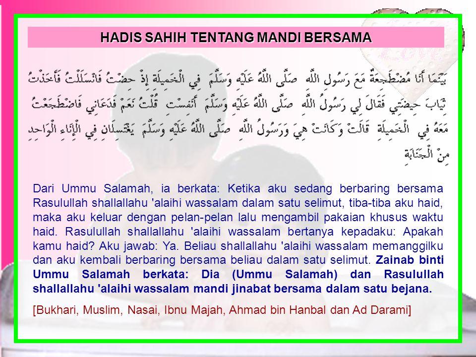 Segala puji hanyalah milik ALLAH, Rabb yang Maha Suci lagi Maha Agung, Maha Pengasih, Maha Penyayang, penguasa alam semesta. Salam dan selawat semoga