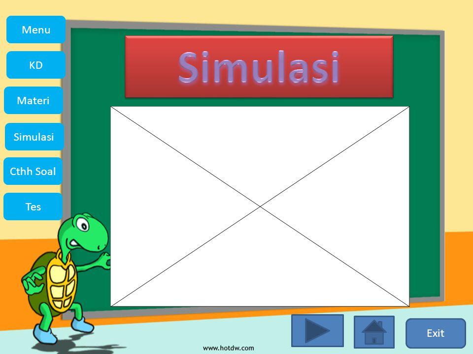 Exit Menu KD Simulasi Materi Tes Cthh Soal Menu
