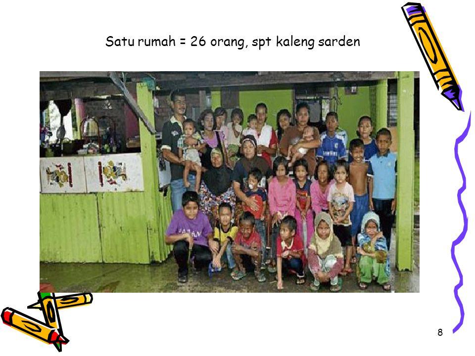 8 Satu rumah = 26 orang, spt kaleng sarden