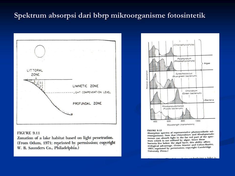 Spektrum absorpsi dari bbrp mikroorganisme fotosintetik